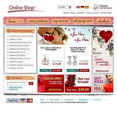 Gifts Store osCommerce Templates by Matrix