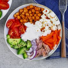 Healthy Bowl, Healthy Recipes, Best Cookbooks, Chana Masala, Cobb Salad, Salads, Clean Eating, Dinner Recipes, Lunch Box