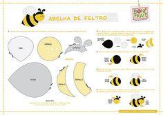 Moldes para hacer abejas de fieltro03