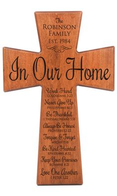 Personalized wall cross, wedding gift, Parent thank you Gift,Family Prayer,Parent gift ,anniversary gift,wall cross,Gift for bride and groom