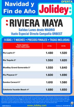 Oferta Navidad y Fin de Año a Riviera Maya desde 1.480 euros. Salidas 23 y 30 de Diciembre. - http://zocotours.com/oferta-navidad-y-fin-de-ano-a-riviera-maya-desde-1-480-euros-salidas-23-y-30-de-diciembre/