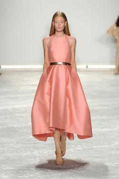 Monique Lhuillier Spring 2015 Peach 50's inspired dress