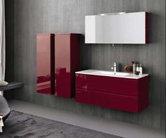 Red Fashionable Bathroom Cabinet Furniture from Artesi - http ...