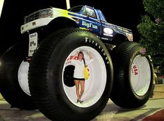 Climb up the tire to get in...