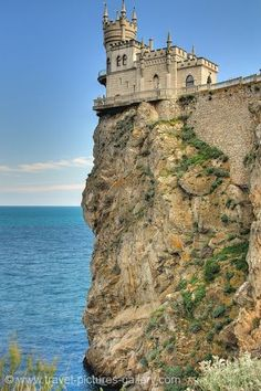 Pictures of Ukraine - Yalta, Swallow's Nest, built in 1912 in Neo-Gothic style