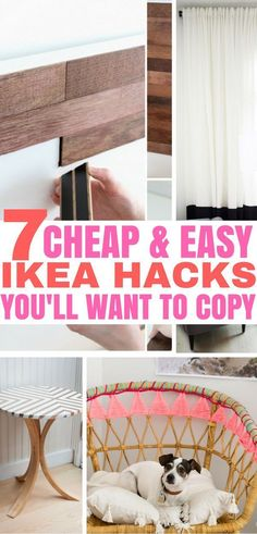 7 Cheap & Easy IKEA Hacks for apartment decorating. DIY home decor ideas that yo. 7 Cheap & Easy IKEA Hacks for apartment decorating. DIY home decor ideas that you can try today! Diy Home Decor Rustic, Diy Home Decor Easy, Diy Home Decor Bedroom, Cheap Home Decor, Room Decor, Easy Diy, Bedroom Hacks, Ikea Bedroom, Bedroom Ideas