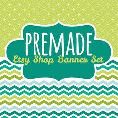 Premade Etsy Shop Banner Avatar Set  Premade Etsy by cosdesign, $5.00