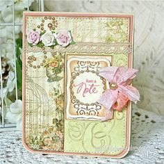 A Project by Kathy Montgomery from our Cardmaking Gallery originally submitted at AM Paper Crafts, Diy Crafts, Shabby Vintage, Shabby Chic, Pretty Cards, Scrapbook Cards, Scrapbooking, Cool Cards, Vintage Cards