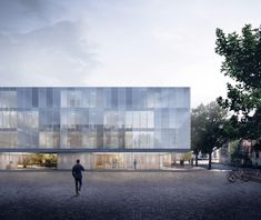Social and Health District Bolzano / Oltrisarco-Aslago, ETB Studio - Beta Architecture Office Building Architecture, Healthcare Architecture, Architecture Collage, Education Architecture, Architecture Visualization, Architecture Graphics, Architecture Portfolio, Facade Architecture, Studio
