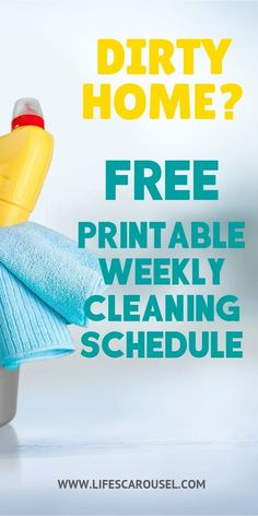 FREE Printable Weekly Cleaning Calendar - Home Cleaning Routine Cleaning Calendar, Weekly Cleaning, Deep Cleaning Tips, Cleaning Checklist, Cleaning Hacks, Office Cleaning, Calendar Calendar, Cleaning Schedules, Speed Cleaning