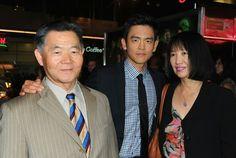 John Cho and his parents in Harold and Kumar 3 premier