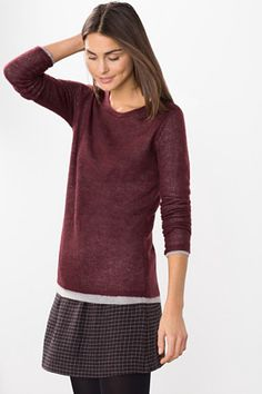 Esprit / Jersey 2 en 1 en mezcla de lana y mohair