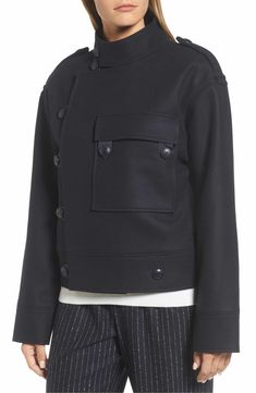 Main Image - Nordstrom Signature Wool Sculpted Jacket