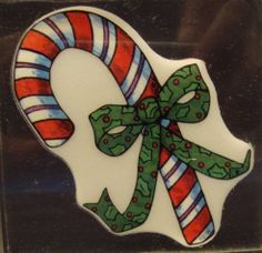 Candy Cane XI1003 Christmas Holiday Acrylic Block Mounted Rubber Stamp