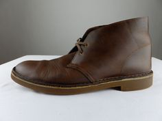 Clarks Bushacre 2 Chukka Desert Beeswax Leather Brown Boots Shoes Men 10 Medium #Clarks #DesertBoots