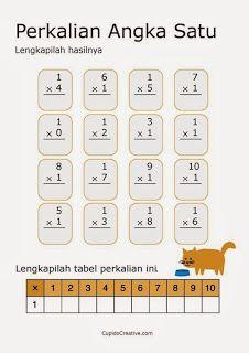 belajar anak perkalian angka 1