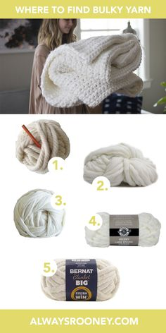 Where to buy bulky yarn to knit or crochet a chunky blanket