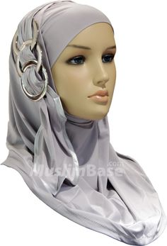 Hijab - Two Piece Chic Rings - Grey http://www.muslimbase.com/clothing/hijabs/two-piece-hijab/hijab-piece-chic-rings-grey-p-9756.html