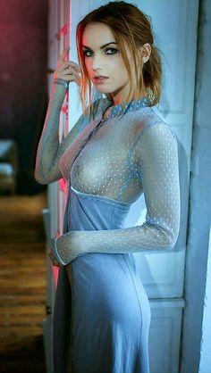 Ravishing Blonde Shera Bechard Slipping Off Her Sheer