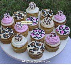 Leopard print cupcake icing tutorial! So easy! Go Jaguars! http://www.mycakeschool.com/blog/leopard-print-cupcakes/
