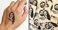 viraI: A Temporary Tattoo of Your Best Friend Is a New Awesome Way to Show How Special They Are to You Simple Portrait, Semi Permanent Tattoo, Twitter Trending, Real Friends, Temporary Tattoo, Cool Eyes, How To Look Pretty, Unique Gifts, Fancy