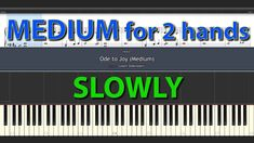 Ode to Joy MEDIUM SLOWLY SPEED with + without sheet LUDWIG VAN BEETHOVEN Piano Tutorials for Everybody Ode To Joy, Piano, Bar Chart, Tutorials, Medium, Pianos, Bar Graphs, Medium Long Hairstyles, Wizards