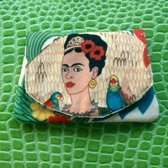 Pocket Frida Cotton Wallet Frida Kahlo Garden by muerto2go on Etsy