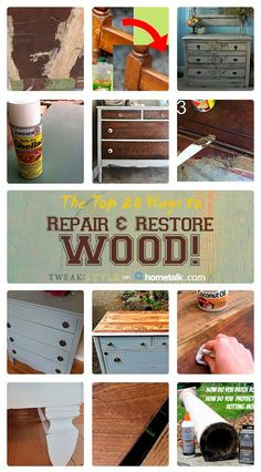 Save Money from not buying New Furniture ! The Top 20 Ways to Repair & Restore Wood!!  Full Tutorials