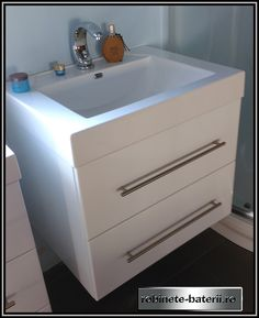 Mobilier baie suspendat Clement 65 cm Sink, Home Decor, Sink Tops, Vessel Sink, Decoration Home, Room Decor, Sinks, Interior Design, Home Interiors