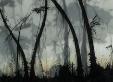 Muted Layered Landscapes - Brooks Shane Salzwedel Creates Art Using Tape, Resin and Graphite (GALLERY)