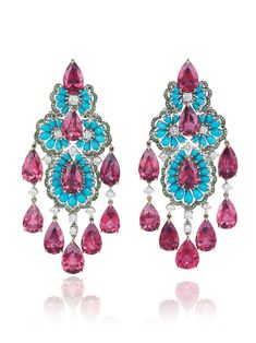 Chopard turquoise rubellite from Chopard Red Carpet Collection