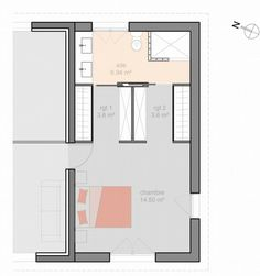 Suite parentale dans moins de 15m2 chambre adulte for Amenagement garage en suite parentale