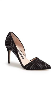 Women's French Connection 'Ellis' Studded Nubuck d'Orsay Pump