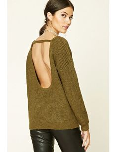 marled-knit-cutout-sweater by f21-contemporary #dress #fashion #trends #onlineshopping #shoptagr