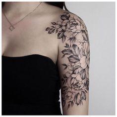 Floral half sleeve by – Created: Chronic Ink Tattoo – Half Sleeve Tattoo Upper Arm, Quarter Sleeve Tattoos, Full Sleeve Tattoo Design, Tattoos For Women Half Sleeve, Upper Arm Tattoos, Arm Sleeve Tattoos, Sleeve Tattoo Women, Arm Tattoos For Women Upper, Half Sleeve Women