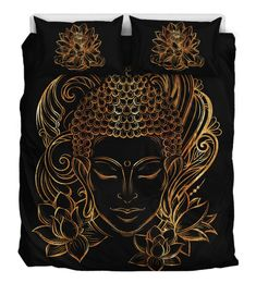 Lotus And Buddha Bedding, Duvet Cover, Bed Set - YesWeVibe