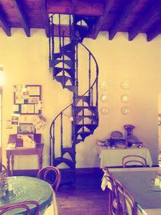 Vintage stairway in Matjiesfontein