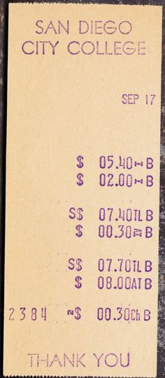 reciept San Diego City, City College, Typography, Inspire, Type, Inspiration, Design, Letterpress, Biblical Inspiration