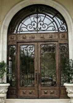 Wrought iron front door glasses 42 New ideas Exterior Doors With Glass, Exterior Front Doors, Entrance Doors, Entrance Ways, Main Entrance, Iron Front Door, Glass Front Door, Glass Doors, Wrought Iron Doors