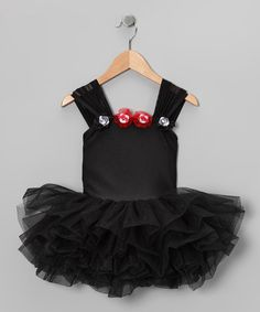 Take a look at this Black Rosette Tutu Leotard - Girls by Ballerina Girl on #zulily today!