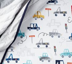 Things That Go Transportation Crib Fitted Sheet