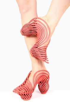 "Neta Soreq 3D printed the springy platforms and heels of these shoes to give the wearer a ""new walking experience"