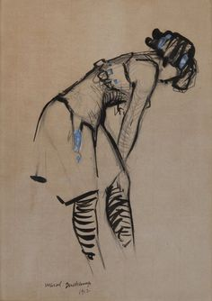 colin-vian: Marcel Duchamp - Young Woman in Blue Ribbon...