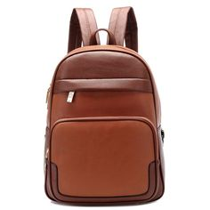 Vintage Style Color Contrast Zipper Decorate College Backpack For Women