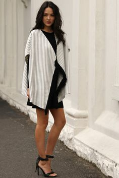 Monte Carlo Poncho - Madison Square Madison Square, Monte Carlo, High Neck Dress, Shirt Dress, Shirts, Collection, Dresses, Fashion, Turtleneck Dress