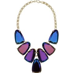 Kendra Scott Harlow Iridescent Statement Necklace ($136) ❤ liked on Polyvore featuring jewelry, necklaces, accessories, black, iridescent necklace, kendra scott jewelry, bib necklace, black jewelry and bib statement necklace