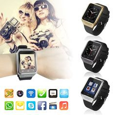 "Smart Watch Wi-Fi Bluetooth Camera Wristwatch Smart-Uni Android 4.4 Dual Core GSM 3G WCDMA(Black). HIGH CONFIGURATION:Android 4.4 smart system , 5.0M Prepositive camera , 1.54"" ?240X240pixel,capacitance touch screen , 1.2G Dual CPU,GPS,WIFI,Bluetooth,FM,Recorder , Bluetooth 4.0 Support all android APP softwares , Support 3G WCDMA. Hardware info: CPU MTK6572--Dual Core 1.2GHz , ROM:4GB , RAM :512MB ,Sim card slot:Yes--Single micro sim card slot ,2G:GSM GSM 850/900/1800/1900…"
