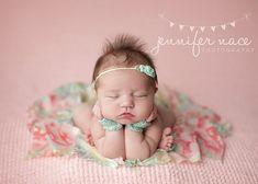 "Newborn Prop Gloves and Headband Set - ""Caroline"", Newborn Photo Prop"