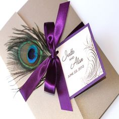 Awesome 10 Peacock Wedding Invitations Cheap