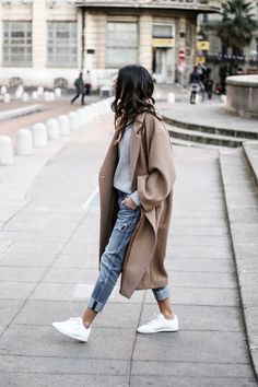 Women Long Outerwear Warm Fashion Coat – Outfit World – All Outfit Ideas For You Mode Outfits, Casual Outfits, Fashion Outfits, Womens Fashion, Fashion Trends, Sneakers Fashion, Fashion Ideas, Fashion Clothes, Fashion Styles